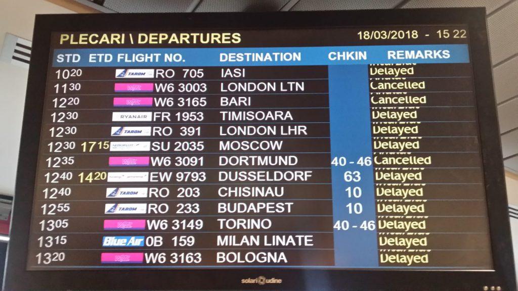 Aeroportul Otopeni Plecări 18 martie 2018