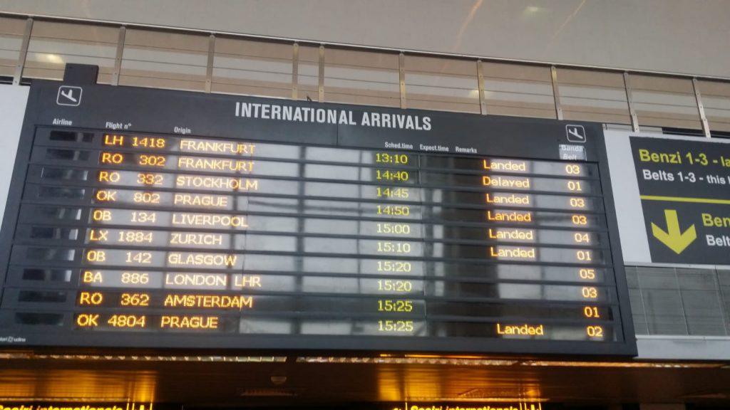 Aeroportul Otopeni Sosiri 18 martie 2018