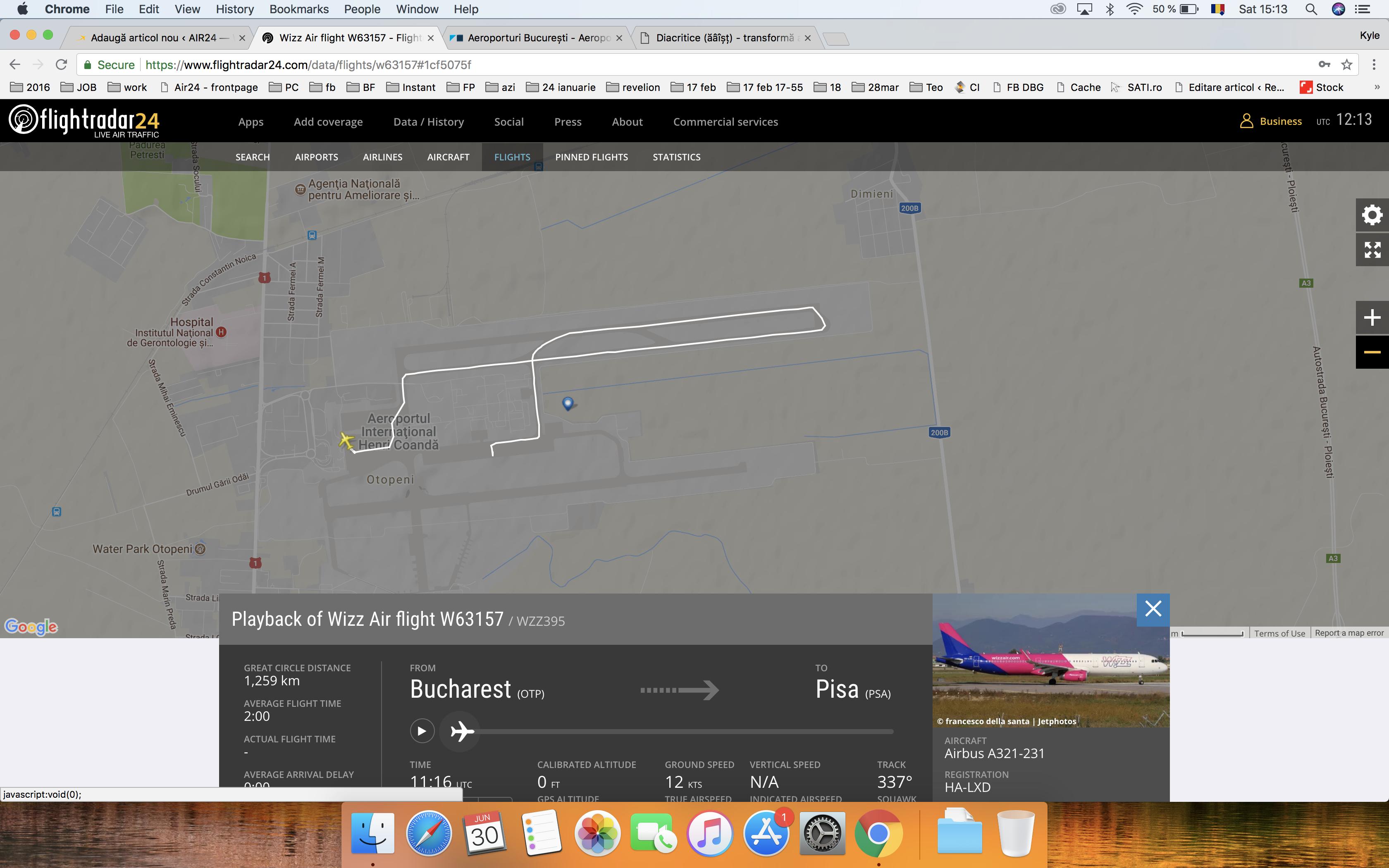 Zborul WizzAir W63157 s-a întors pe Otopeni după ce pilotul a suspectat un impact cu o pasăre