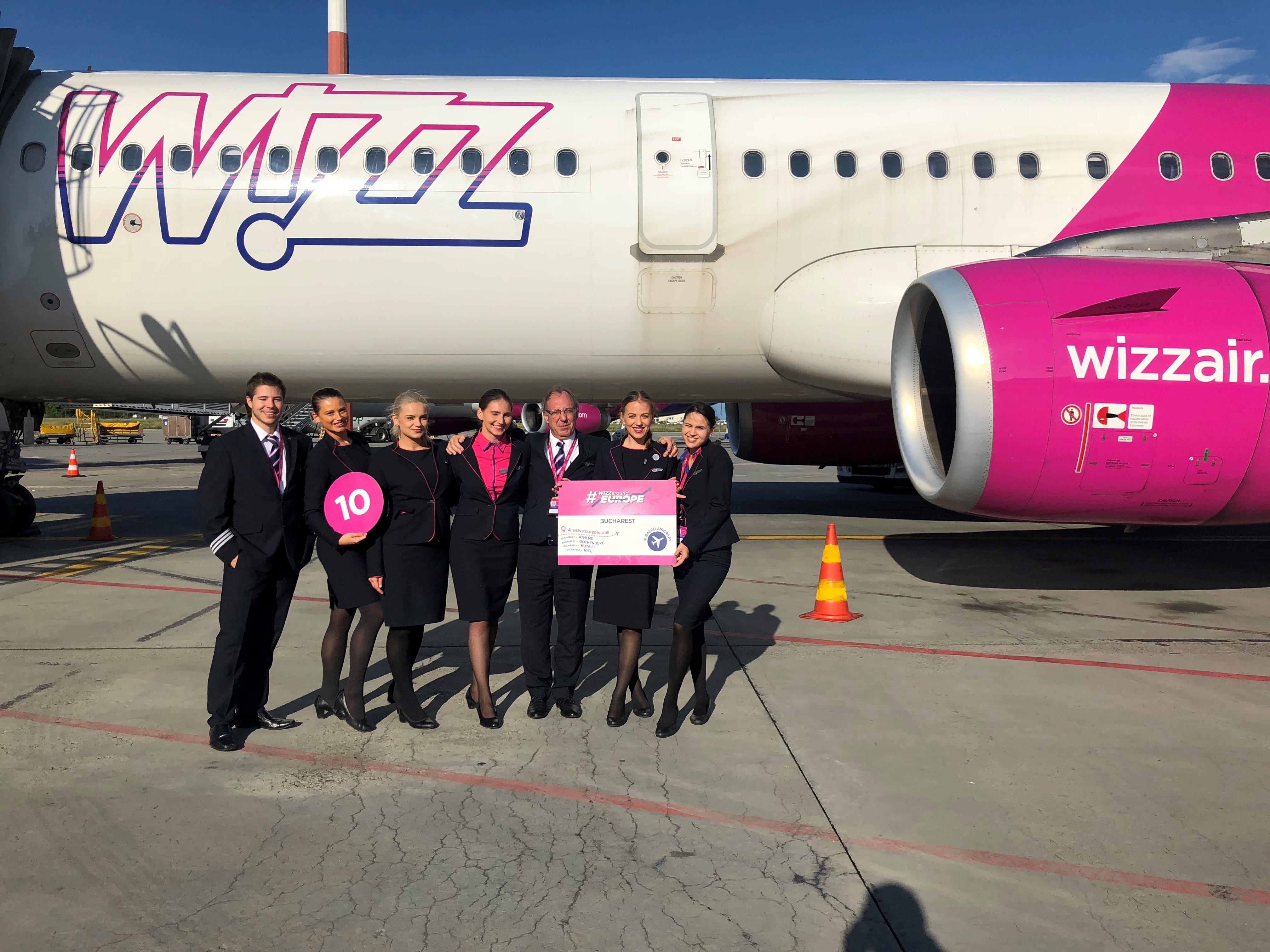 Sărbătoare la Wizz Air: A zecea aeronavă la București și 11 ani de la deschiderea bazei