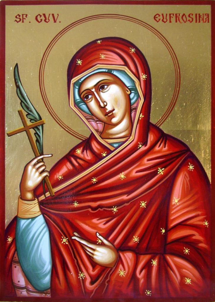 Calendar Ortodox Sfanta Cuvioasa Eufrosina 25 septembrie