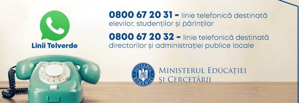 Contact Ministerul Educatiei pentru elevi, parinti, profesori si directorii de scoala