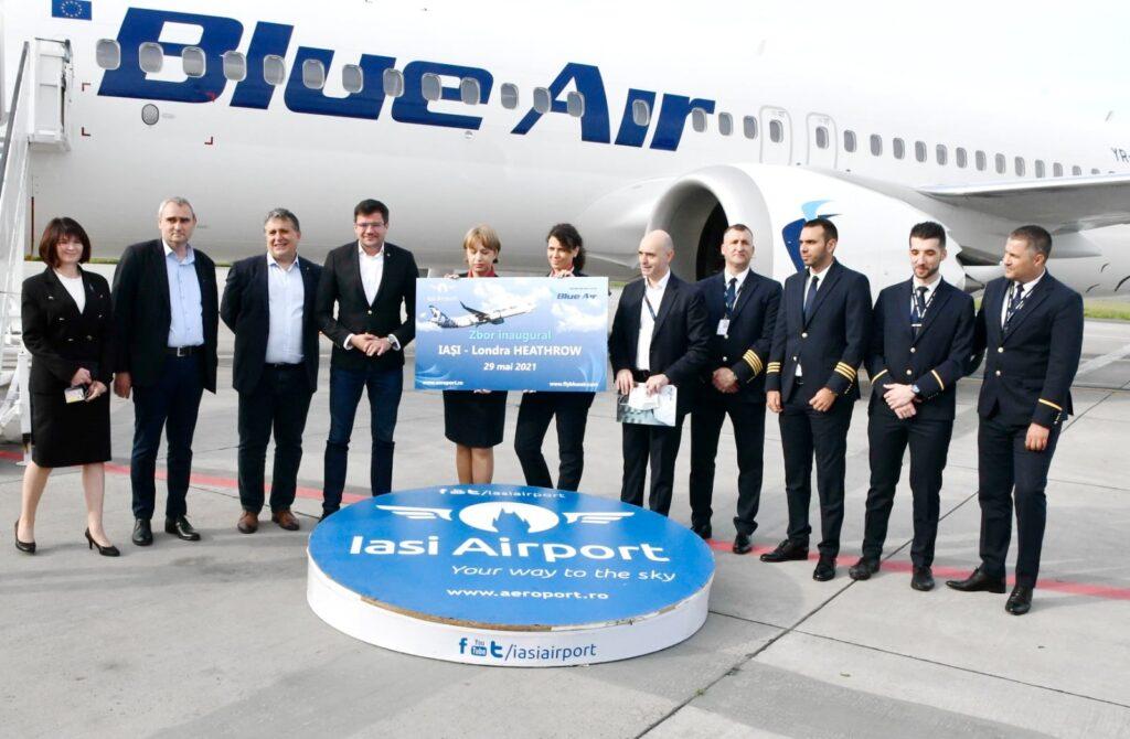 Blue Air operează două zboruri săptămânale Iași-Londra Heathrow
